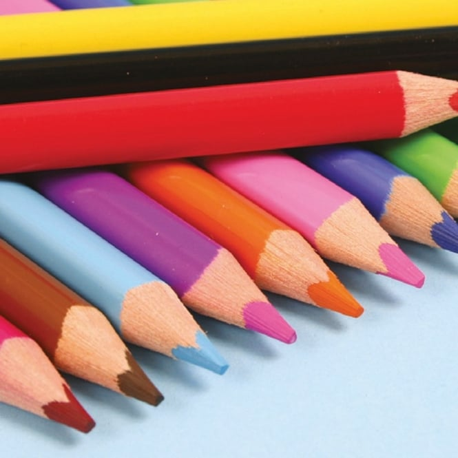 12 Giant Triangular Colouring Pencils