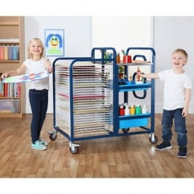 3 In 1 Mobile Art Storage Trolley With Trays