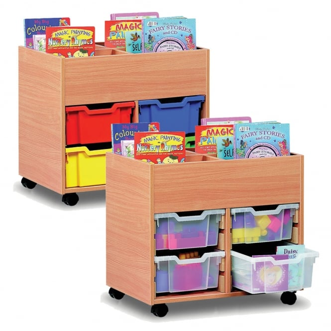 4 Bay Mobile Kinderbox with Deep Trays