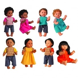 40 cm Ethnic Vinyl Dolls Full Set