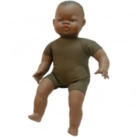 42cm Black Soft Bodied Doll
