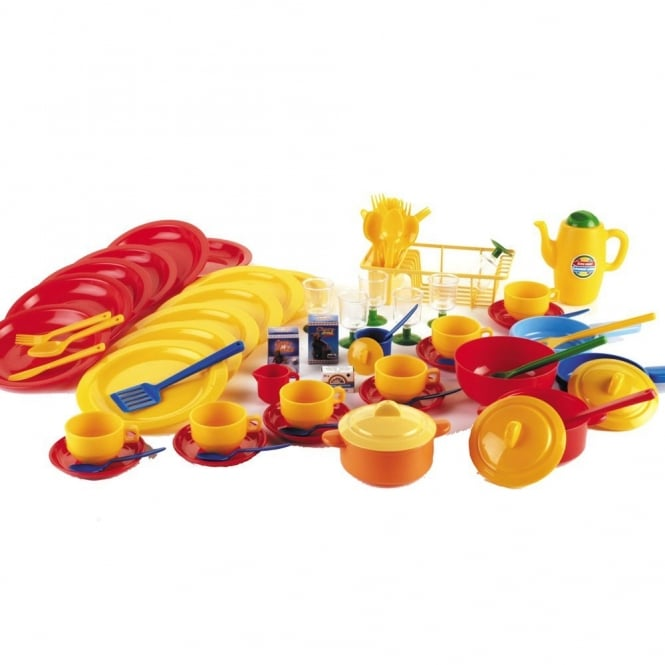 80pc Plastic Cups And Dishes Playset