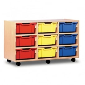 9 Deep Clear/Colour Tray Storage Unit