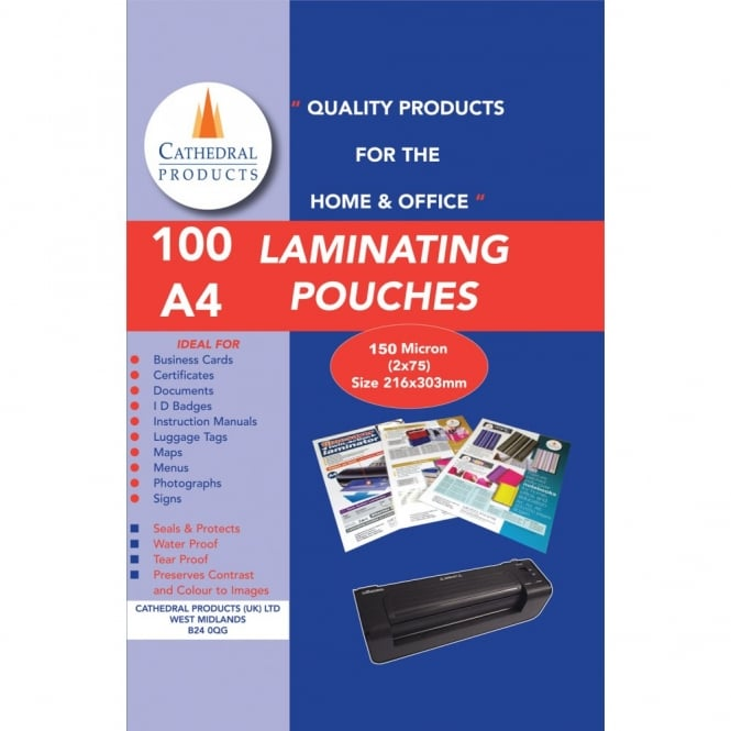A4 Laminating Pouches (Pack of 100)