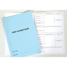 A4 Staff Accident Book (Blue)