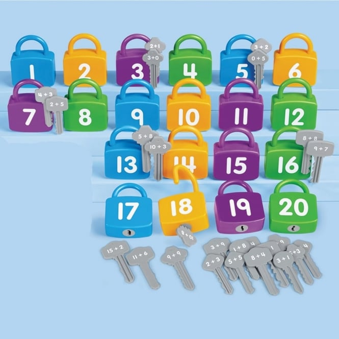 Addition Number Locks - Numeracy from Early Years Resources UK