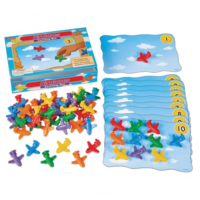 Aeroplanes Counting Box - Numeracy from Early Years Resources UK