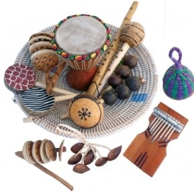 African Musical Instrument Basket