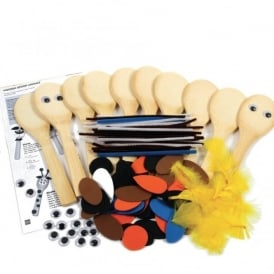 Animals Wooden Spoons Kit