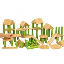 Bamboo Building Blocks Class Set