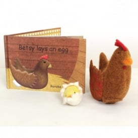 Betsy Lays An Egg Book and Felt Toy