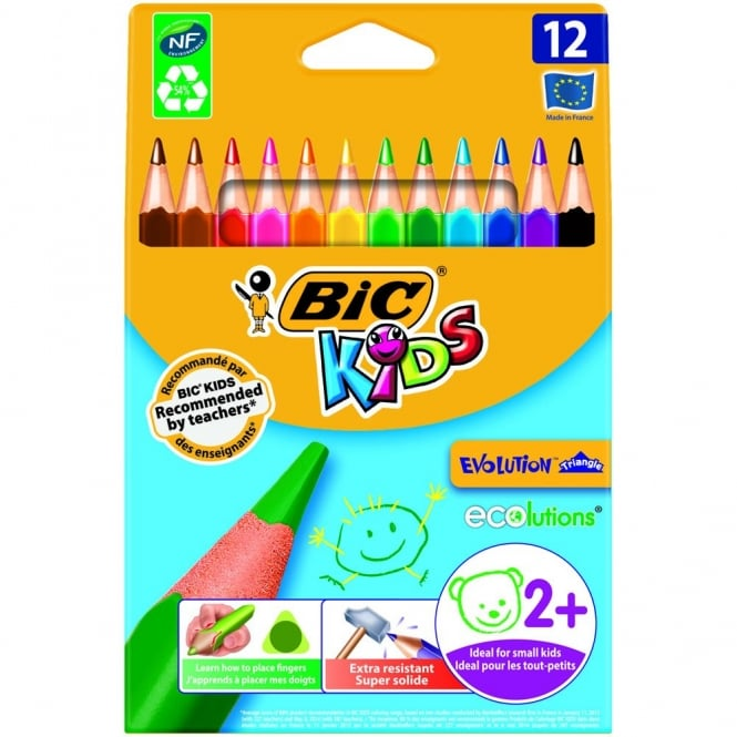 Bic Kids Evolution Triangle Pencils 12 Pack