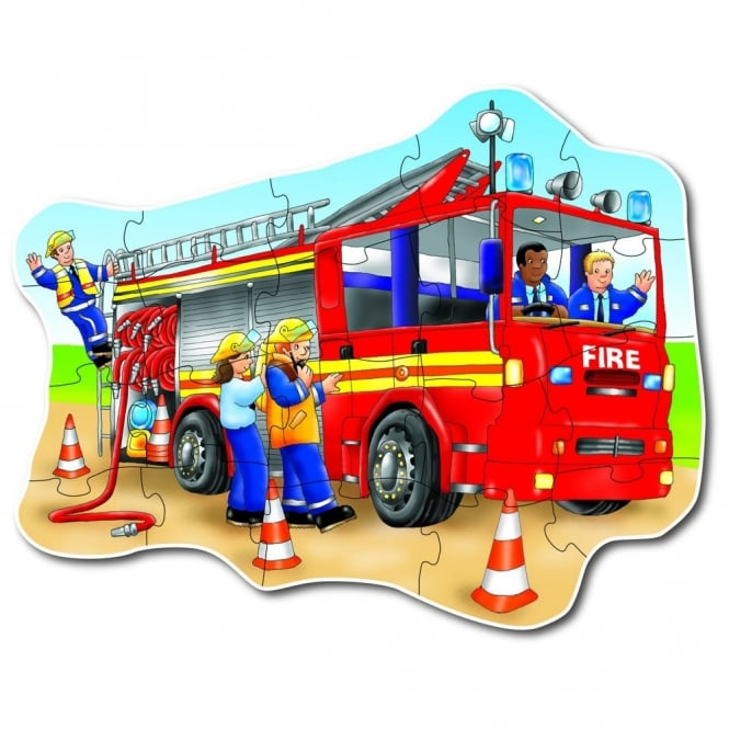 Big Fire Engine Floor Puzzle Jigsaw