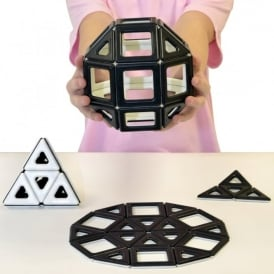 Black and White Magnetic Polydron