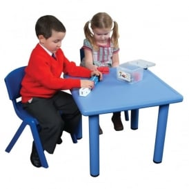 Blue Square Classroom Tough Table