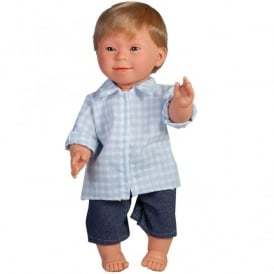 Boy Doll With Downs Syndrome With Blonde Hair