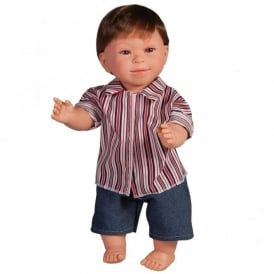 Boy Doll With Downs Syndrome With Dark Hair