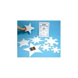 Bumper Card Snowflakes And Stars