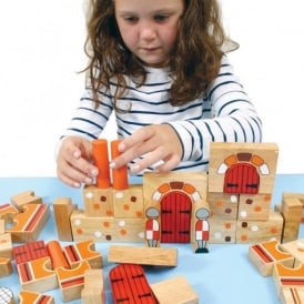 Castle Wooden Building Blocks