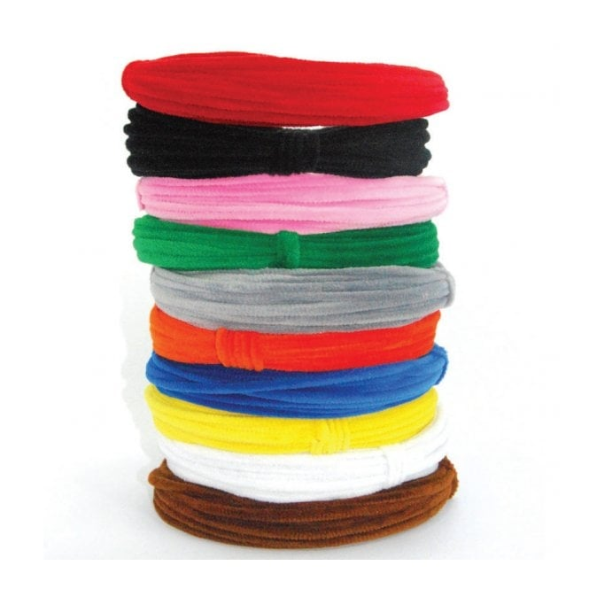 Chenille Coil Pipe Cleaners (Pack Of 10 Colours)