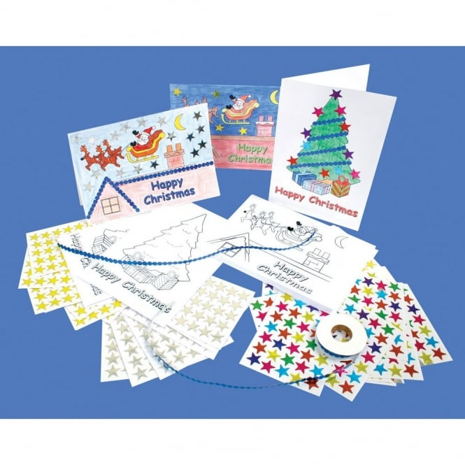 Christmas Cards - Santa And Tree Pack of 90
