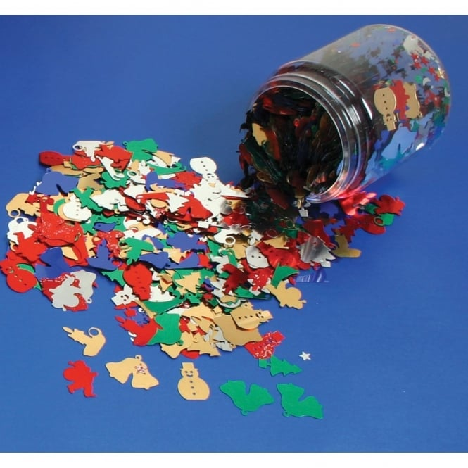 Christmas Sequins Tub Mix (100g)