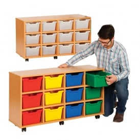 Compact Cubby Hole 12 Tray Unit