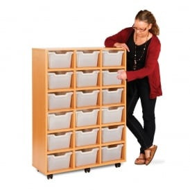 Compact Cubby Hole 18 Tray Unit