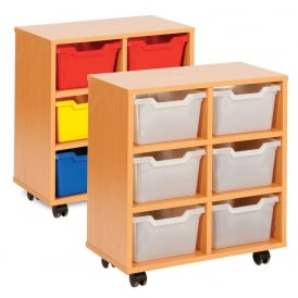 Compact Cubby Hole 6 Tray Unit