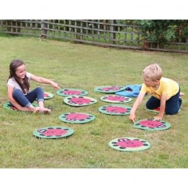 Counting Ladybirds Outdoor Play Mats Set Of 24