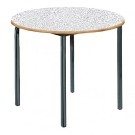 Crushed Bent Frame Stacking Circular Table Pack Of 2