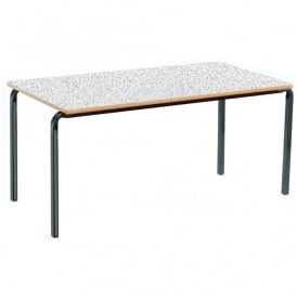 Crushed Bent Frame Stacking Table Rectangular Pack Of 3