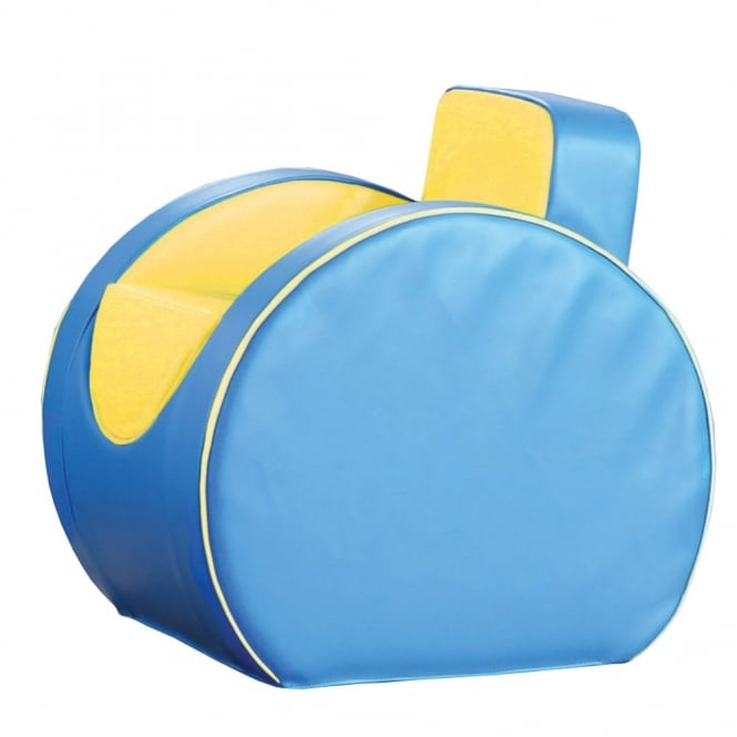 Deco Armchair - Blue & Yellow