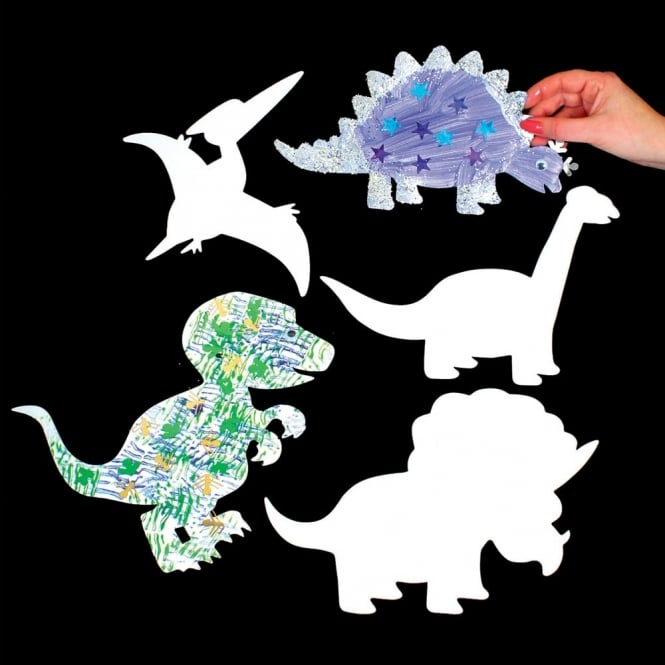 Dinosaur Collage Shapes Pack