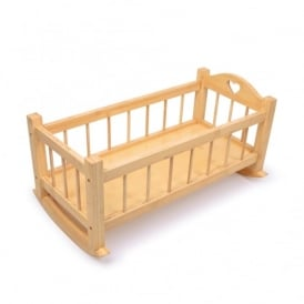 Dolls Wooden Rocking Cradle