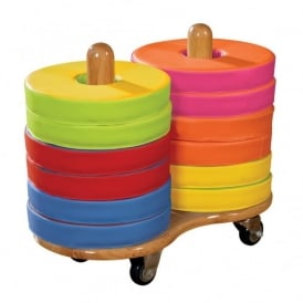 Donut Cushions with Storage Trolley