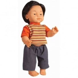 East Asian Boy Vinyl Doll - 40cm