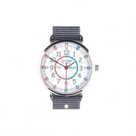 Easyread Time Teacher Watch Minutes Past And Minutes To Grey