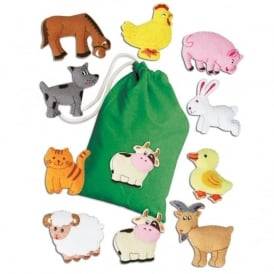 Farm Animals Felt Motifs Set