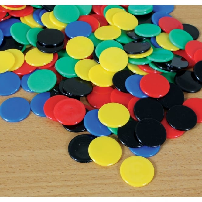 Five Solid Colour Counters (Pack Of 500/16mm)
