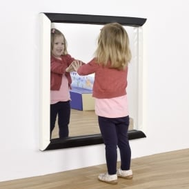 Flat Square Sensory Mirror With Soft Frame - Various Colours
