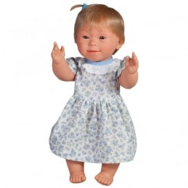 Girl Doll With Downs Syndrome With Blonde Hair