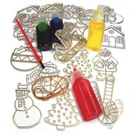 Glass Painting Set - Christmas (with Paint)