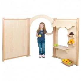 Indoor Role Play Panels Shop Set - Maple
