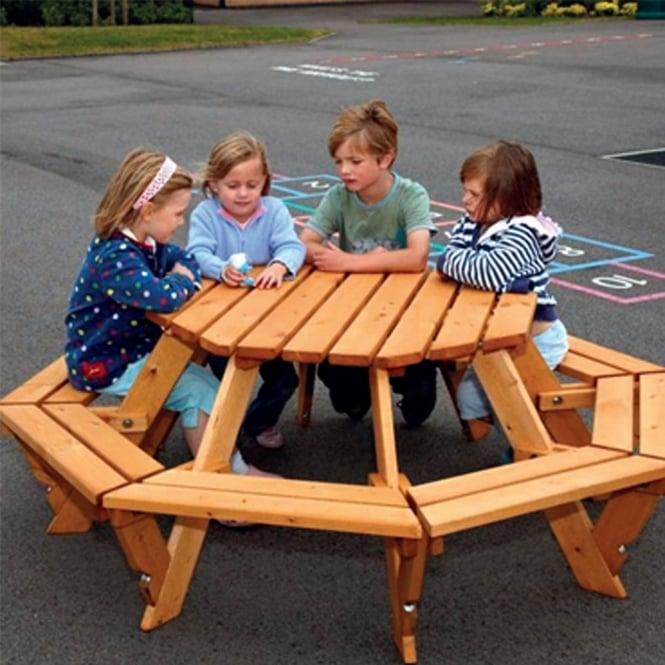Strange Infant Octagonal Picnic Bench Download Free Architecture Designs Osuribritishbridgeorg