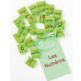 Les Numeros (French Numbers) Bean Bags