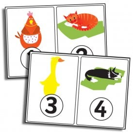 Little Red Hen 1-10 Numbers