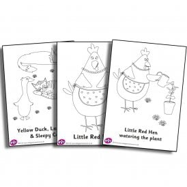 Little Red Hen Colouring Sheets