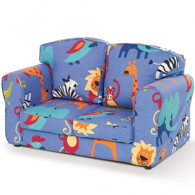 Wondrous Loose Cover Blue Lion Childrens 2 Seater Sofa Gmtry Best Dining Table And Chair Ideas Images Gmtryco