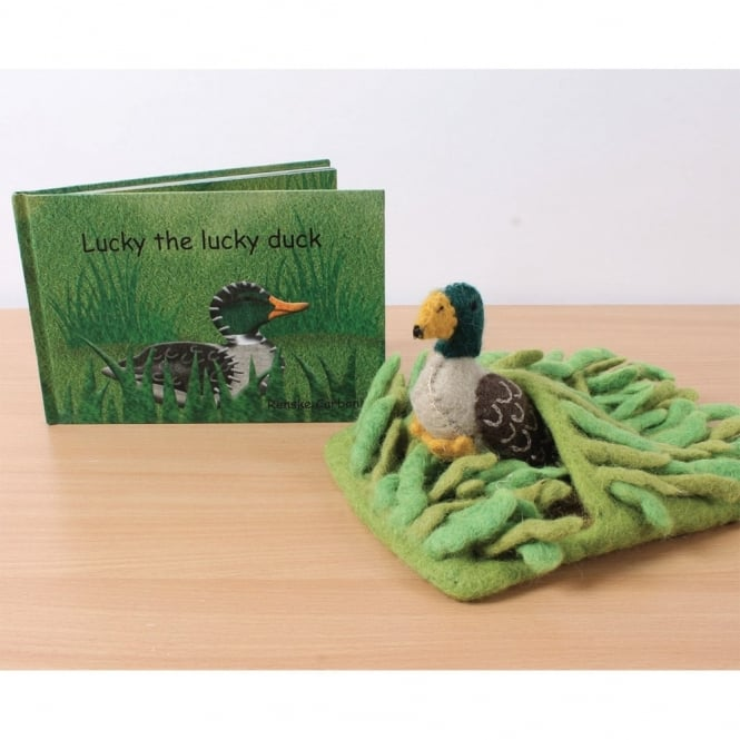 Lucky The Lucky Duck Book and Felt Toy